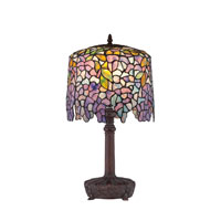 Tiffany 20 inch 60 watt Bronze Table Lamp Portable Light