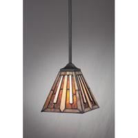Quoizel Lighting Tiffany 1 Light Mini Pendant in Vintage Bronze TF1176PVB alternative photo thumbnail