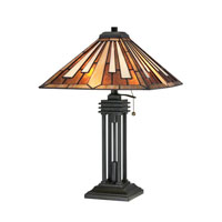Quoizel Lighting Tiffany 2 Light Table Lamp in Vintage Bronze TF1176TVB
