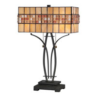 Quoizel Lighting Tiffany 2 Light Table Lamp in Vintage Bronze TF1178TVB alternative photo thumbnail