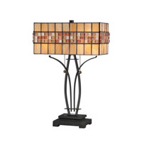 Quoizel Lighting Tiffany 2 Light Table Lamp in Vintage Bronze TF1178TVB photo thumbnail