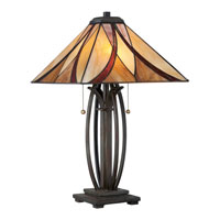 Quoizel TF1180TVA Asheville 25 inch 75 watt Valiant Bronze Table Lamp Portable Light, Naturals alternative photo thumbnail
