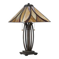 Quoizel Lighting Tiffany 2 Light Table Lamp in Valiant Bronze TF1180TVA alternative photo thumbnail