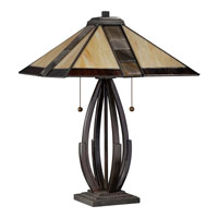 Quoizel Lighting Tiffany 2 Light Table Lamp in Valiant Bronze TF1181TVA alternative photo thumbnail