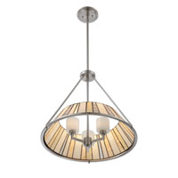 Quoizel Lighting Tiffany 3 Light Pendant in Brushed Nickel TF1217CBN alternative photo thumbnail