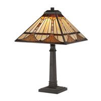 Quoizel Lighting Tiffany 1 Light Table Lamp in Vintage Bronze TF1246TVB