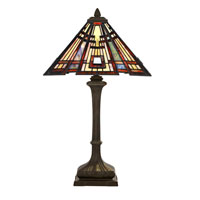 Quoizel Lighting Classic Craftsman 2 Light Table Lamp in Valiant Bronze TF124TVA