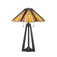 Quoizel Lighting Tiffany 2 Light Table Lamp in Bergamo TF1254TBE