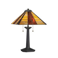 Quoizel Lighting Tiffany 2 Light Table Lamp in Vintage Bronze TF1256TVB