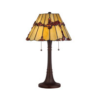 Quoizel Lighting Tiffany 2 Light Table Lamp in Russet TF1268TRS