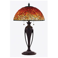 Pomez 30 inch 75 watt Burnt Cinnamon Table Lamp Portable Light