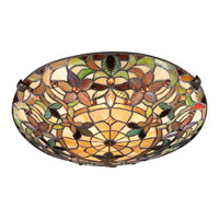 Quoizel Tiffany 2 Light Flush Mount in Vintage Bronze TF1396SVB alternative photo thumbnail