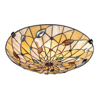 Quoizel TF1409SVB Tiffany 2 Light 17 inch Vintage Bronze Flush Mount Ceiling Light, Naturals alternative photo thumbnail