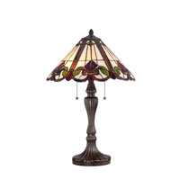 Tiffany 24 inch 75 watt Western Bronze Table Lamp Portable Light