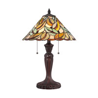 Quoizel Lighting Tiffany 2 Light Table Lamp in Bronze TF1428T