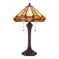 Quoizel Lighting Tiffany 2 Light Table Lamp in Russet TF1431TRS alternative photo thumbnail