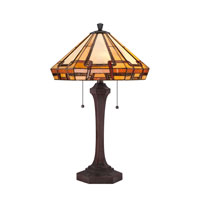 Quoizel Lighting Tiffany 2 Light Table Lamp in Russet TF1431TRS