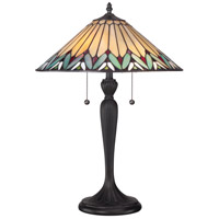 Quoizel TF1433T Tiffany 23 inch 75 watt Authentic Bronze Table Lamp Portable Light