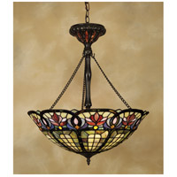Tiffany 3 Light 22 inch Vintage Bronze Pendant Ceiling Light