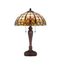 Quoizel Lighting Tiffany 2 Light Table Lamp in Russet TF1440TRS