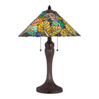 Quoizel Lighting Tiffany 2 Light Table Lamp in Russet TF1485TRS alternative photo thumbnail