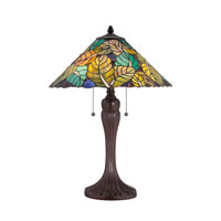 Quoizel Lighting Tiffany 2 Light Table Lamp in Russet TF1485TRS photo thumbnail