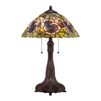 Quoizel Lighting Tiffany 2 Light Table Lamp in Russet TF1486T alternative photo thumbnail