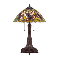 Quoizel Lighting Tiffany 2 Light Table Lamp in Russet TF1486T photo thumbnail