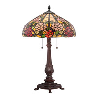 Quoizel Lighting Tiffany 2 Light Table Lamp in Russet TF1488TRS alternative photo thumbnail