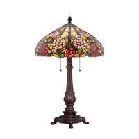 Quoizel Lighting Tiffany 2 Light Table Lamp in Russet TF1488TRS photo thumbnail