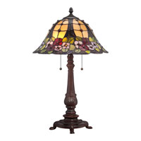 Quoizel Lighting Tiffany 2 Light Table Lamp in Russet TF1489TRS alternative photo thumbnail