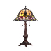 Quoizel Lighting Tiffany 2 Light Table Lamp in Russet TF1489TRS photo thumbnail