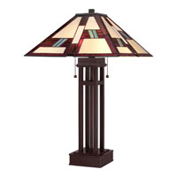 Quoizel Lighting Tiffany 2 Light Table Lamp in Russet TF1490TRS alternative photo thumbnail