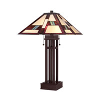 Quoizel Lighting Tiffany 2 Light Table Lamp in Russet TF1490TRS photo thumbnail
