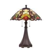 Quoizel Lighting Tiffany 2 Light Table Lamp in Western Bronze TF1504TWT photo thumbnail