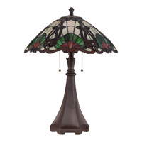 Quoizel Lighting Tiffany 2 Light Table Lamp in Western Bronze TF1504TWT alternative photo thumbnail