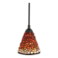 Quoizel Lighting Pomez 1 Light Mini Pendant in Vintage Bronze TF1507VB