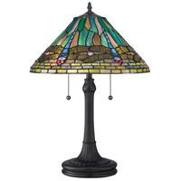 Quoizel Lighting Tiffany 2 Light Table Lamp in Vintage Bronze TF1508TVB