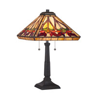 Quoizel Lighting Tiffany 2 Light Table Lamp in Vintage Bronze TF1509TVB