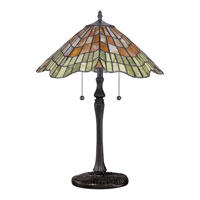 Quoizel Lighting Tiffany 2 Light Table Lamp in Vintage Bronze TF1510TVB alternative photo thumbnail