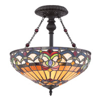 Quoizel Belle Fleur 2 Light Semi-Flush Mount in Vintage Bronze TF1511SVB
