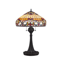 Quoizel Lighting Tiffany 2 Light Table Lamp in Vintage Bronze TF1511TVB