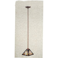 Quoizel Lighting Tiffany 1 Light Mini Pendant in Medici Bronze TF1516Z photo thumbnail