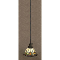Quoizel Lighting Tiffany 1 Light Mini Pendant in Vintage Bronze TF1529VB