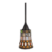 Quoizel Lighting Tiffany 1 Light Mini Pendant in Espresso TF1558EP