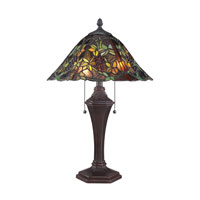 Quoizel Lighting Tiffany 2 Light Table Lamp in Russet TF1561TRS