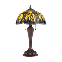 Quoizel Lighting Tiffany 2 Light Table Lamp in Russet TF1562TRS