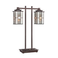 Quoizel Lighting Finley 2 Light Table Lamp in Western Bronze TF1564TWT