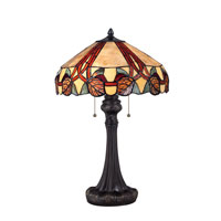 Quoizel Lighting Tiffany 2 Light Table Lamp in Imperial Bronze TF1568TIB