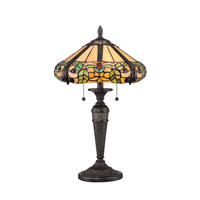 Quoizel Lighting Tiffany 2 Light Table Lamp in Imperial Bronze TF1572TIB